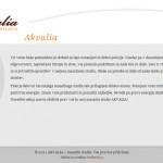 Oblikovanje in izdelava spletnih strani akvalia.si