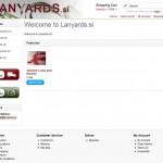 Izdelava spletne trgovine lanyards.si
